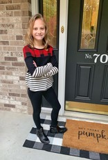 Girls Holiday Color Block Top