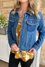 Fitted Medium Wash Denim Jacket