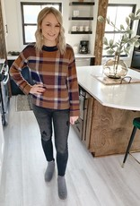 Camel Plaid Sweater