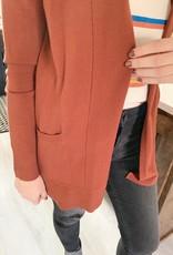 Copper Pocket Cardigan