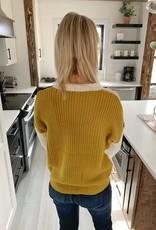 Ivory Colorblock Sweater
