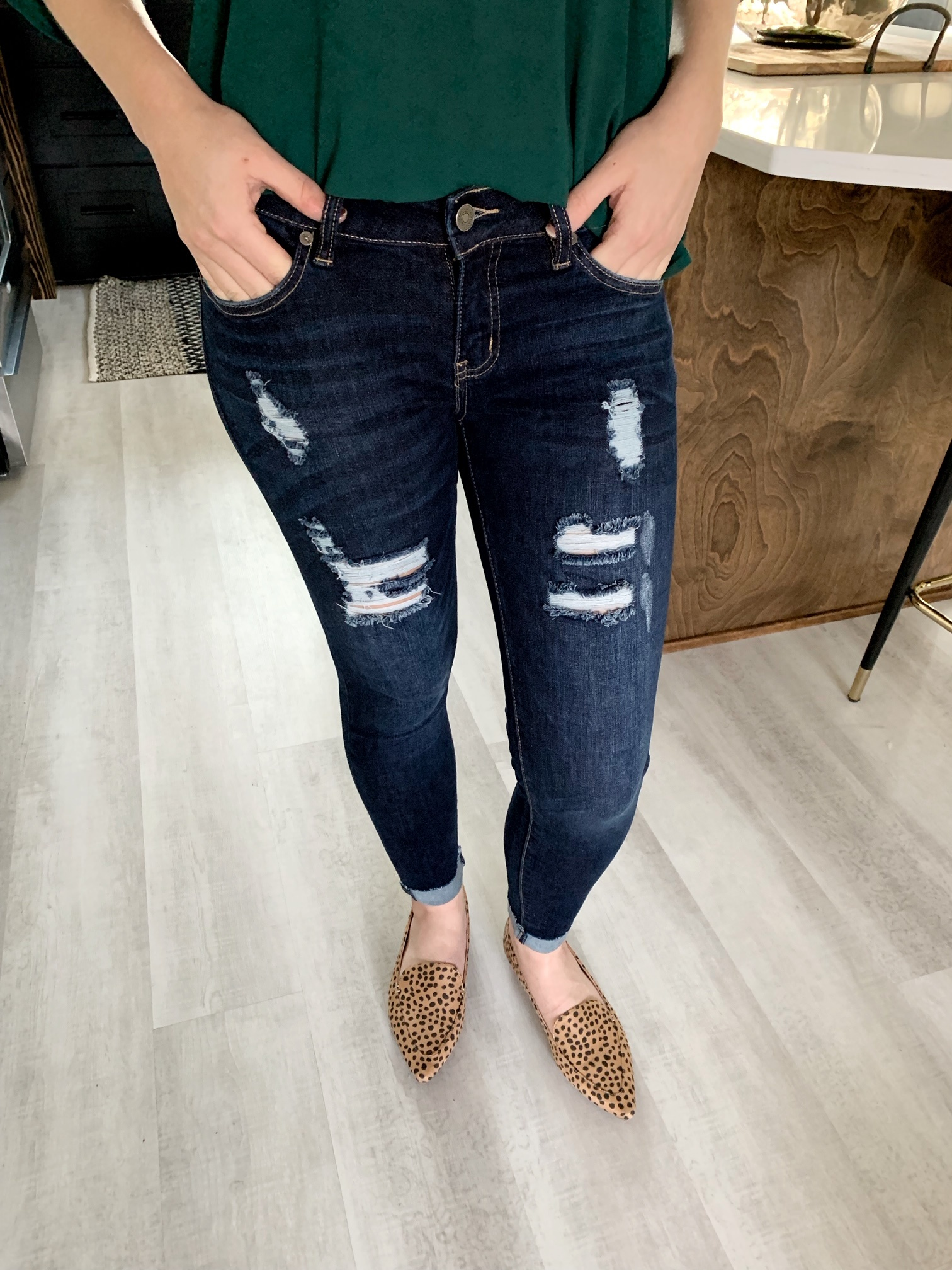 Low Rise Distressed Jean