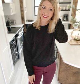 Ribbed Black Sweater