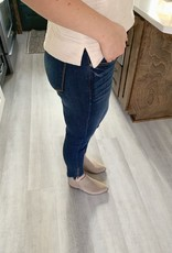 Low Rise Zipper Hem Jean
