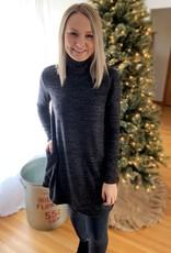 Black Mockneck Dress