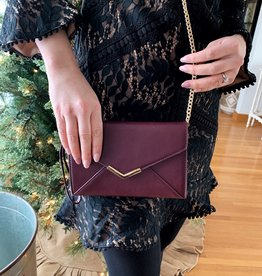 MMS Trading Wine/Gold Crossbody