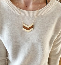Brown Arrow Necklace
