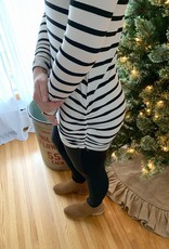 Striped Ruched Tunic