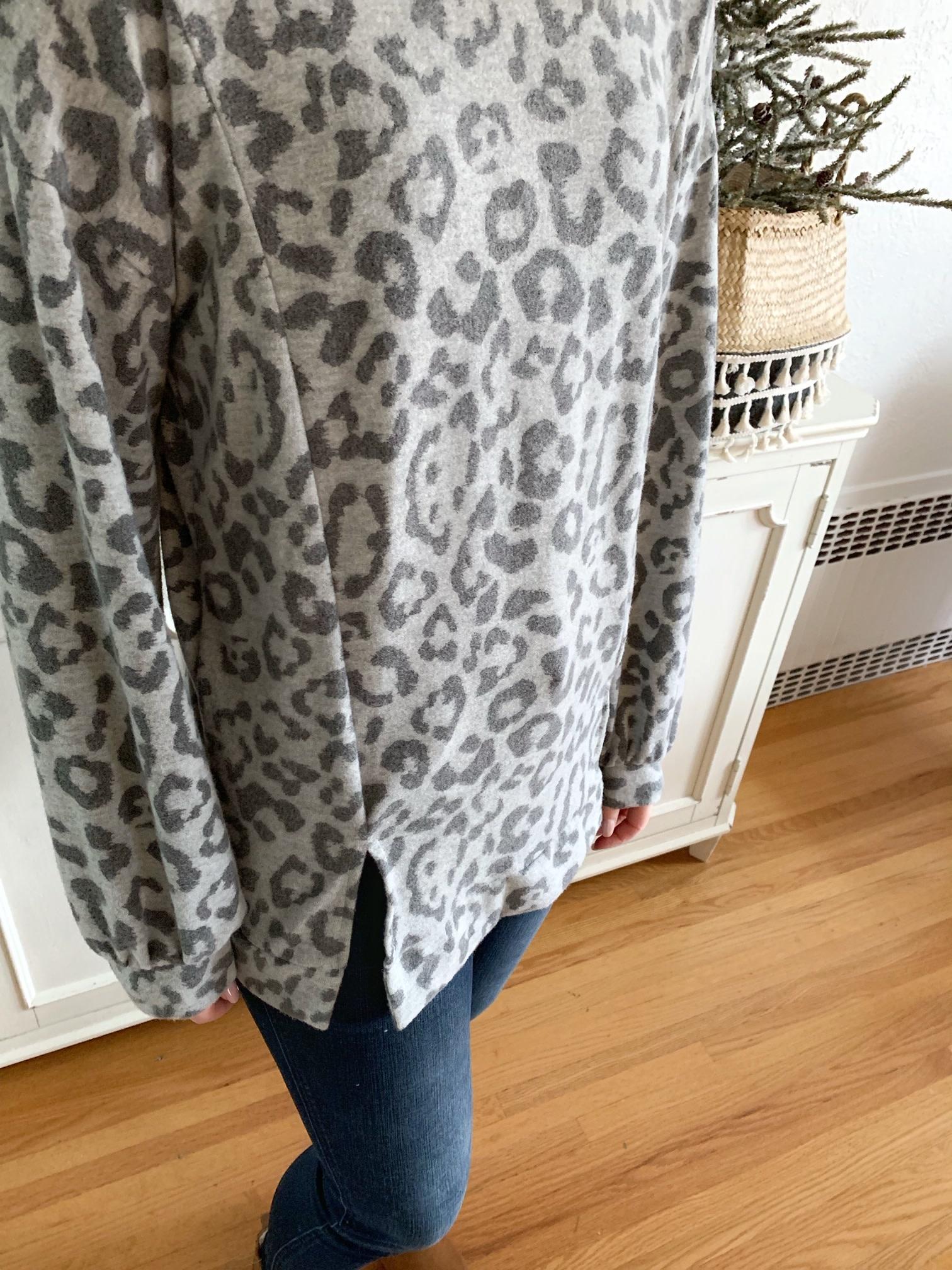 Leopard Knit Top