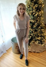 Taupe Knit Jumpsuit