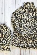 Girls Leopard Fleece Pullover