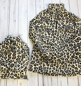 Girls Leopard Fleece Pullover