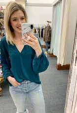Teal Star Blouse