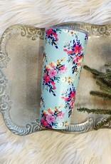 Blue & Pink Floral Tumbler