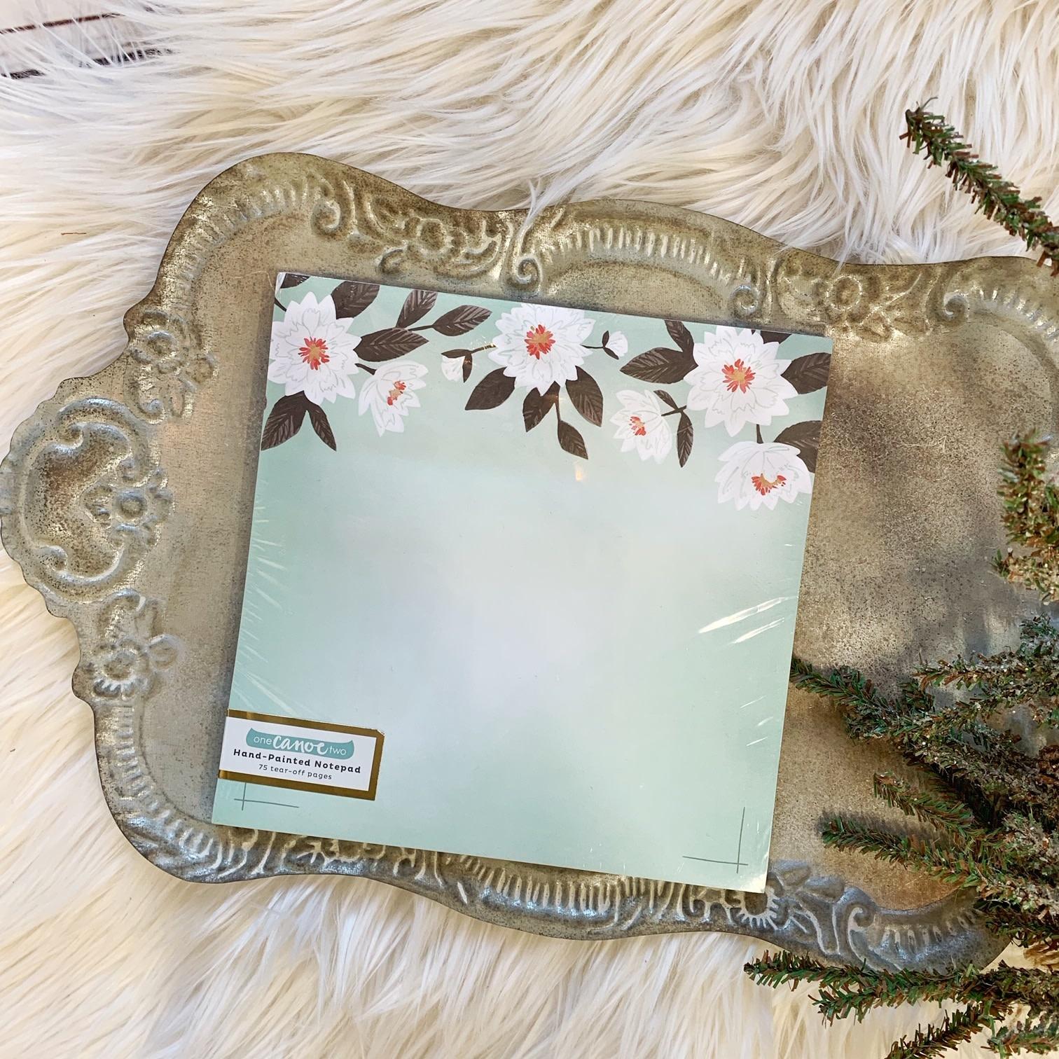 Mint Floral Notepad