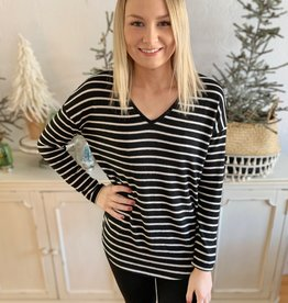 Black & White Striped Long Sleeve