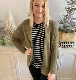Olive Relaxed Cardigan