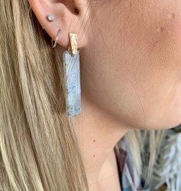 Stone Bar Earring