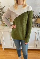 Olive Colorblock Pullover