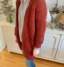 Copper Fuzzy Cardigan