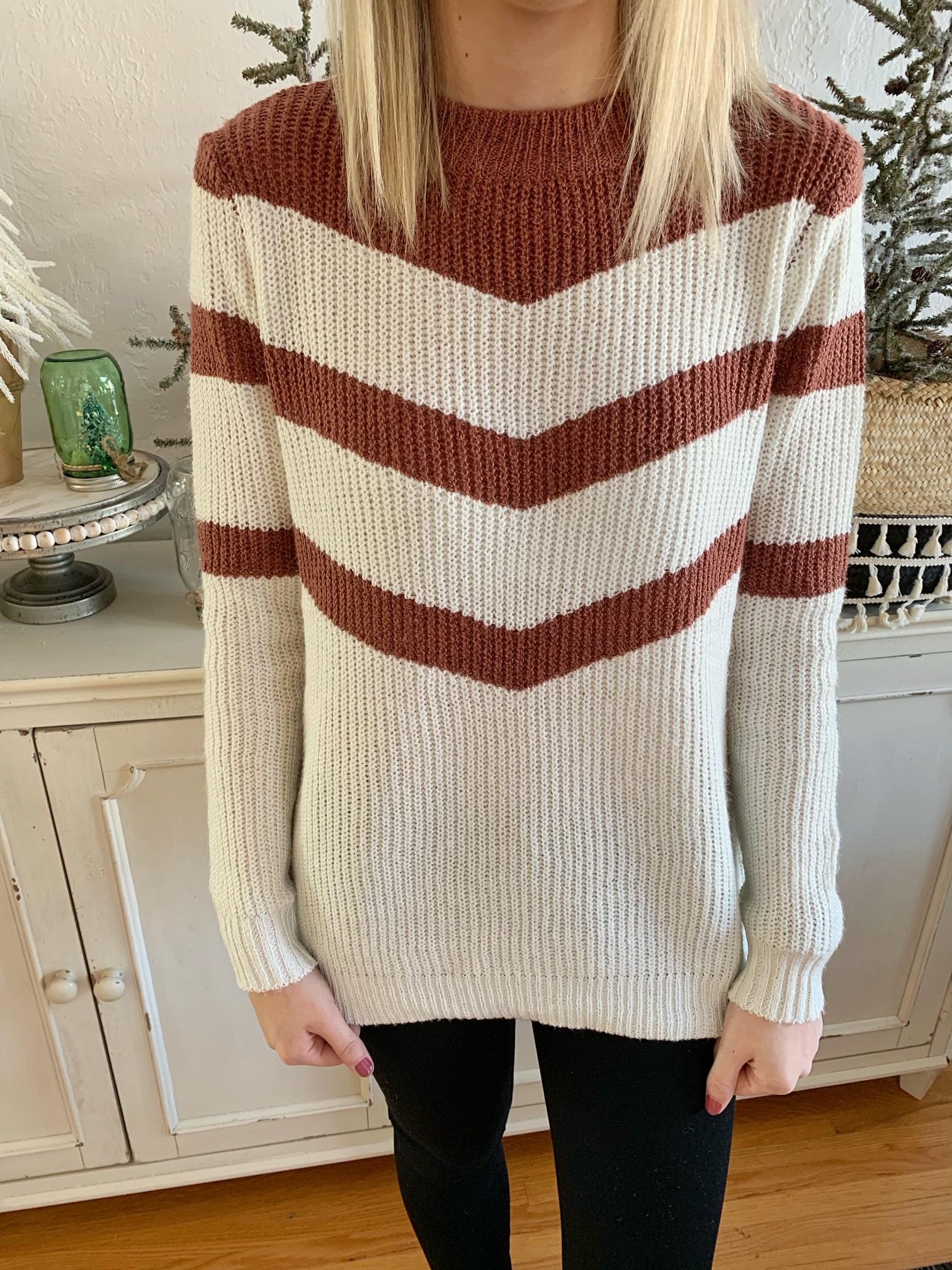 Rose Colorblock Pullover