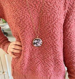Pink Leopard Pendant Necklace