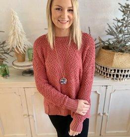 Rose Popcorn Sweater