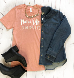 Olive & Ivory Mama Life Is The Best Life Tee