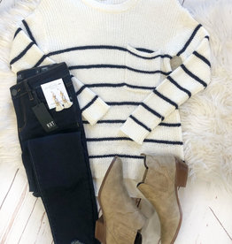 Ava Striped Sweater