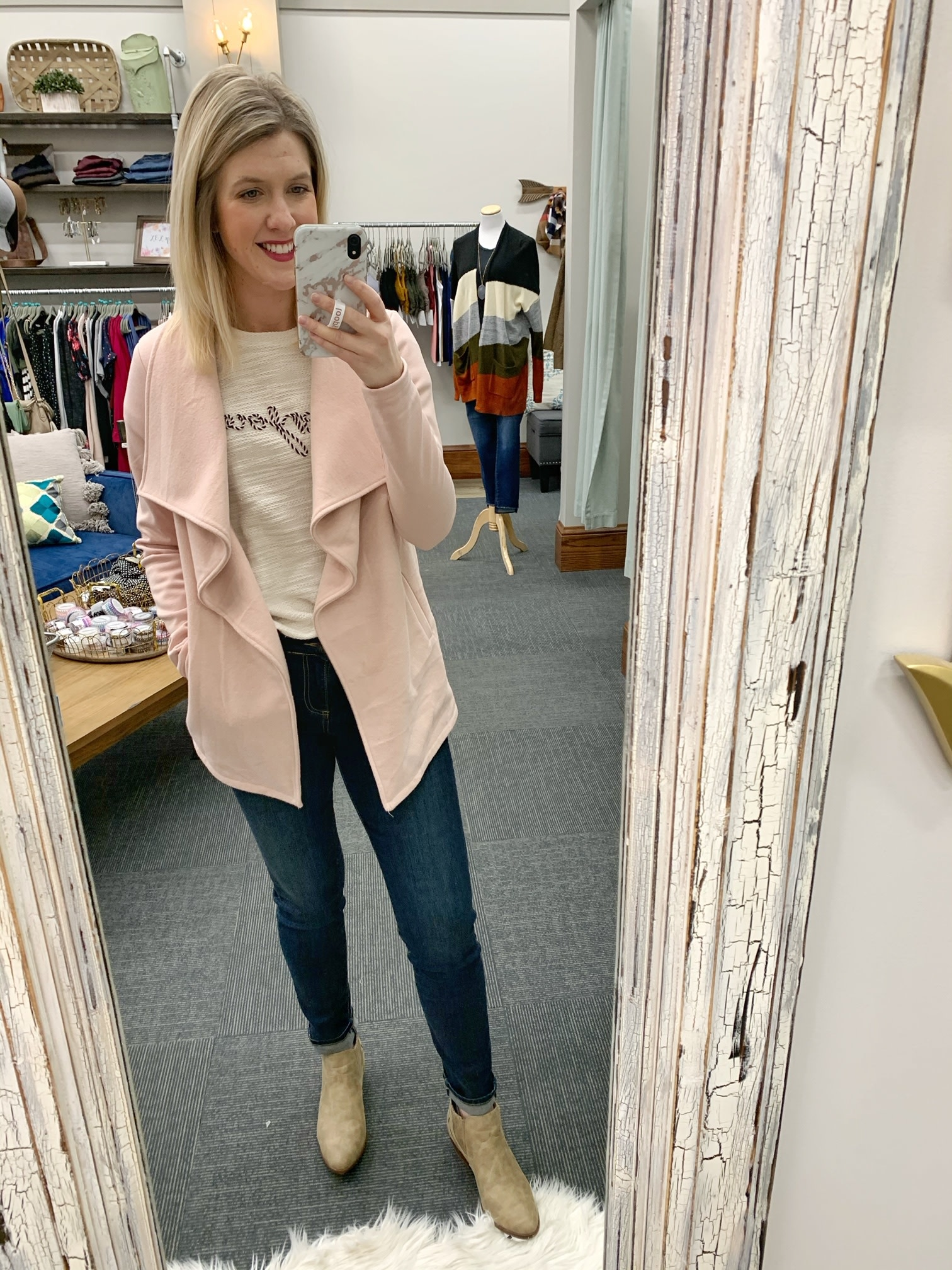 Blush Shawl Jacket