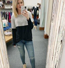 Black/Heather Grey Sweater