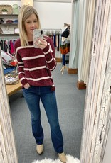 Madison Wine Striped Sweater