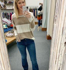 Mila Mocha Striped Sweater