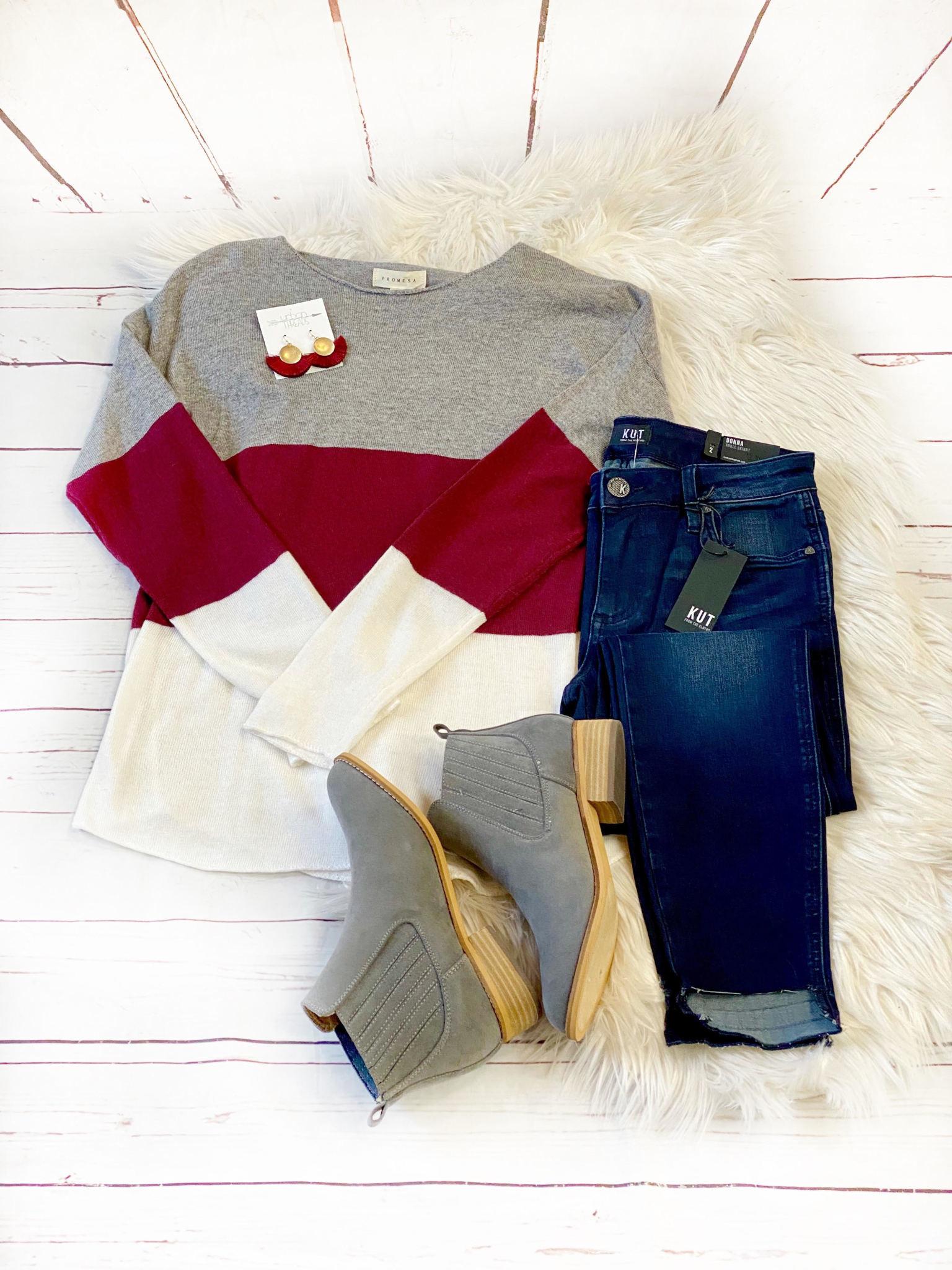 Lydia Color Block Sweater