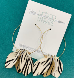 Mixed Zebra Print Earrings