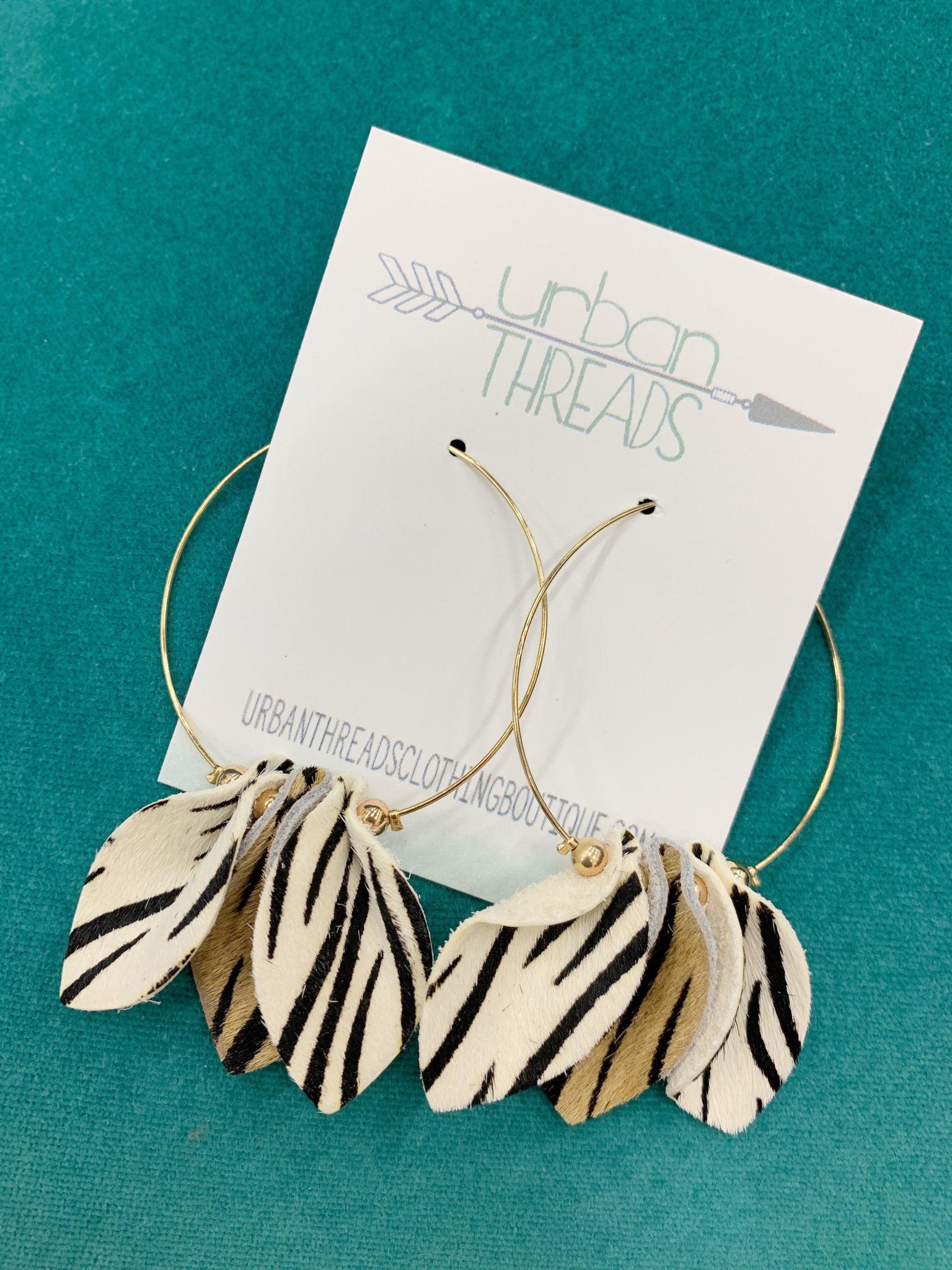 Mixed Zebra Print Earrings