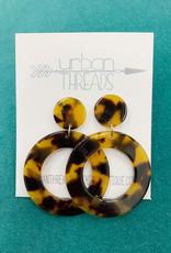 Hoop Drop Tortoise Earrings