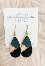 Navy Combo Wooden Earrings