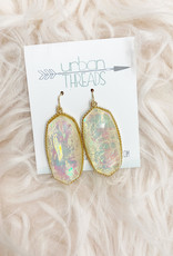 Ivory Opal Drop Earrings