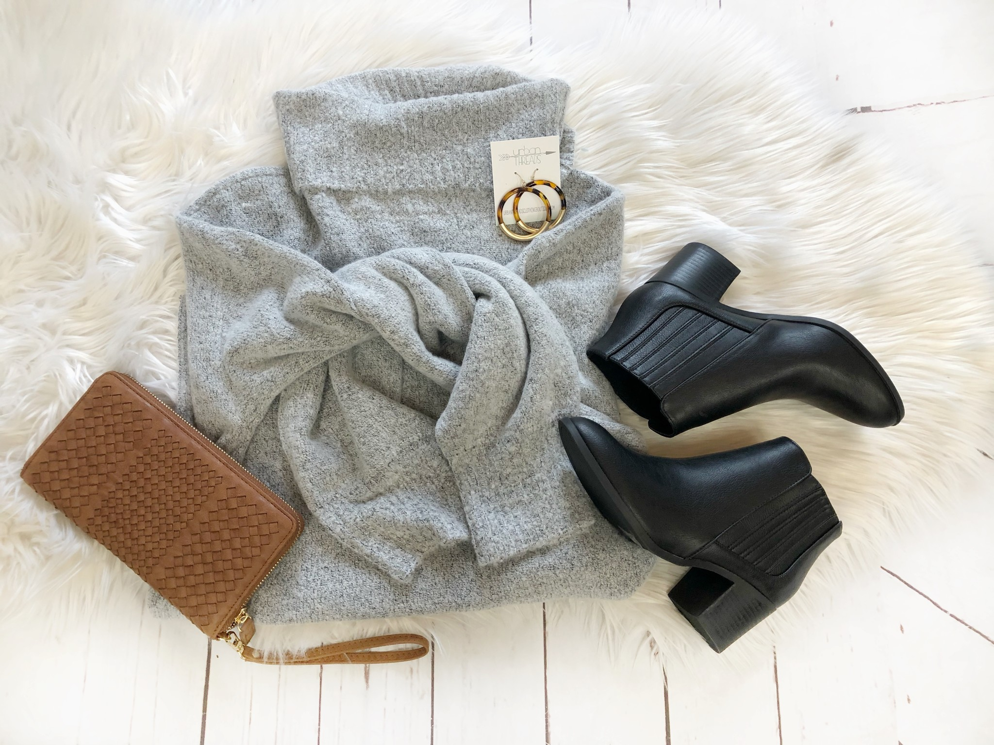 Lillian Gray Turtleneck Sweater