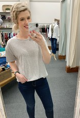Wheaton Striped Grey Tee