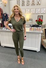 Olive Tapered Jumpsuit