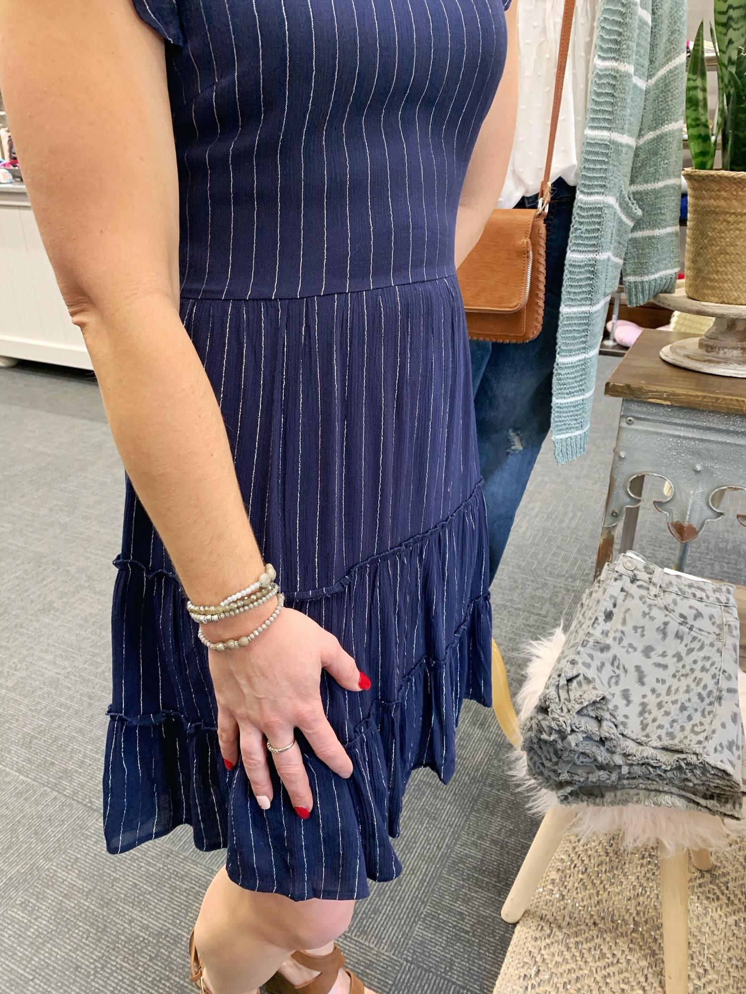 Navy Shimmer Dress