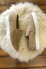 Taupe Quilted Flat
