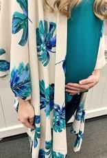 Blue Leaf Kimono