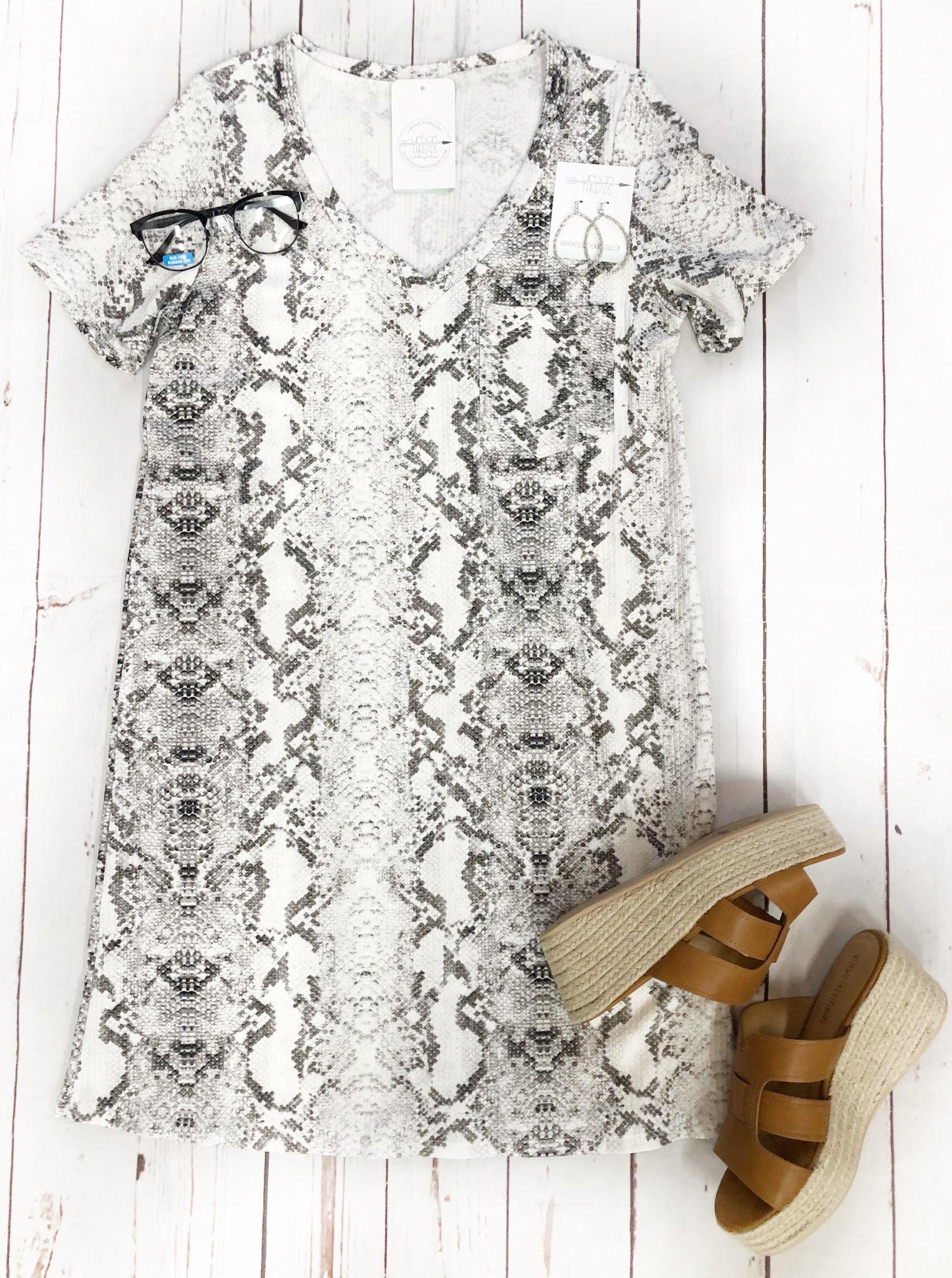 Snakeskin T-Shirt Dress