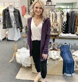 Aubergine Purple Ivy Cardigan