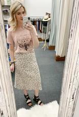 White Leopard Skirt