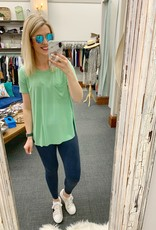 Lime Green Pocket Tee