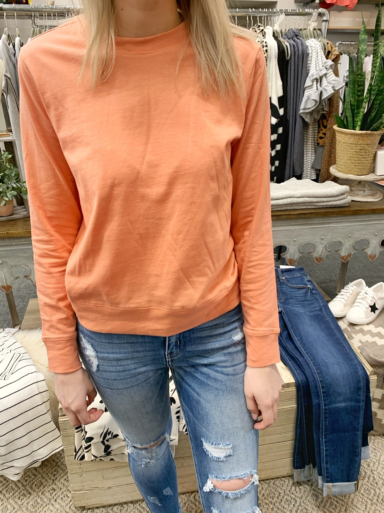 Sunset Coral Pullover